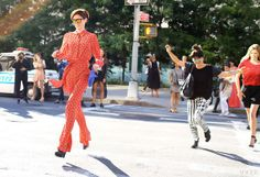 Coco Rocha at New York Fashion Week {love this photo!}