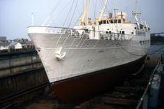 """Skoleskipet MS """"Gann"""" (ex MS """"Sandnes"""") i dokk. Stavanger, Johannes, Maritime Museum, Sailing Ships, Boat, Ms, Dinghy, Boats, Sailboat"""