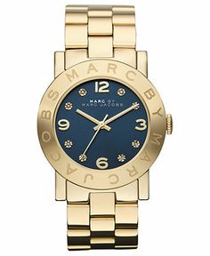 Marc by Marc Jacobs Watch, Women's Gold Ion Plated Stainless Steel Bracelet 36mm MBM3166 - All Watches - Jewelry & Watches - Macy's