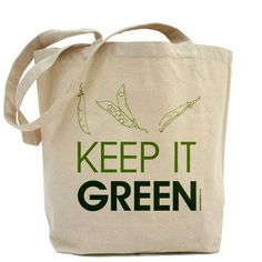 Organically Grown - Keep It Green - Canvas Tote Bag -