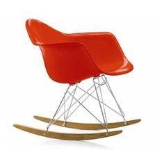 VITRA sedia a dondolo Eames Plastic Armchair RAR rocking chair