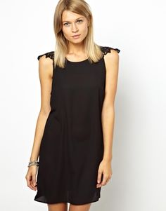 Image 1 ofLove Swing Dress With Lace Shoulder