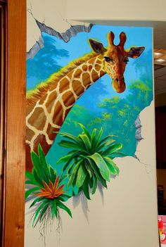 Utah mural artist Billy Hensler shares his over 30 years experience painting murals in wide range of unique styles and genres . 3d Wall Painting, Mural Wall Art, Art Wall Kids, Kids Room Murals, School Painting, Printable Wall Art, Pop Art, Art Projects, Wallpaper