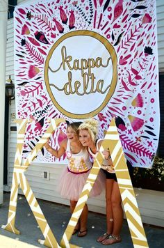 Bid Day colors: gold and pink