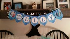 Name banner made by Christy's Cake Pops and more on Facebook.