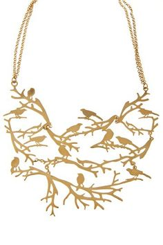 SKOG - necklace with short chain and many branches