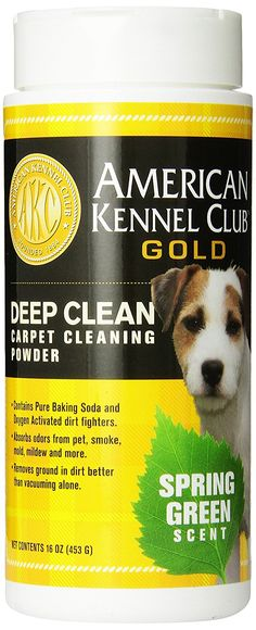 AMERICAN KENNEL CLUB GOLD Deep Clean Carpet Powder, 16-Ounce, Spring Green * Click on the image for additional details. (This is an affiliate link and I receive a commission for the sales)