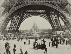 french eiffel tower graphics | Image: French Photographer - Under the Eiffel Tower, from ''L''Album ...