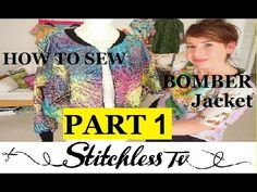 How to sew a bomber jacket.  Free video tutorial.