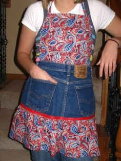 recycled jeans apron~could be reworked