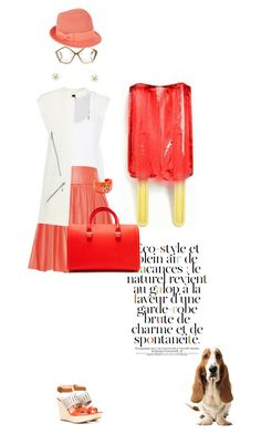 Salmon ice by pensivepeacock on Polyvore featuring polyvore moda style Dries Van Noten Warehouse Alice + Olivia Sole Society Victoria Beckham Oasis Christys' Miu Miu Trina Turk fashion clothing