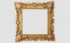 Antique golden frame PNG by LiliGraphie on Creative Market