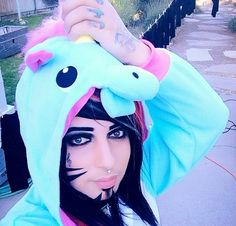 Dahvie Vanity almost 30 and wearing a unicorn costume... This is why I love him