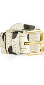 Marc by Marc Jacobs dot snake leather belt