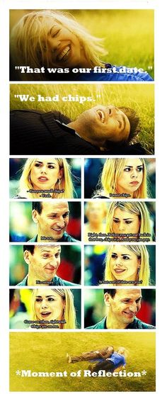 *moment of reflection*. One forgets he's always the same man, just a different appearence. #DoctorWho #NinthDoctor #TenthDoctor #RoseTyler