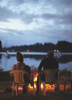 The first time Cody and I hung out alone, down by the dam, with just a little fire, talking for hours.