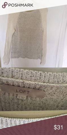 LOFT sweater This sweater was only worn once and is in great condition LOFT Sweaters Crew & Scoop Necks