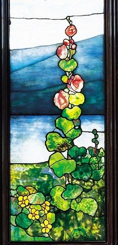 """Window with Hudson River Landscape"" by Tiffany Studios Stained Glass Church, Stained Glass Flowers, Stained Glass Designs, Stained Glass Panels, Stained Glass Patterns, Leaded Glass, Stained Glass Art, Tiffany Stained Glass, Tiffany Glass"