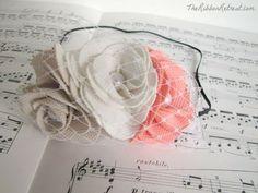 Le Fleur Headband Tutorial: Uses ready-made La Fleur Flowers on a skinny elastic headband. So pretty! {The Ribbon Retreat Blog}