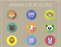 """Check out new work on my @Behance portfolio: """"Animals Flat Icons FREE DOWNLOAD"""" http://be.net/gallery/41483973/Animals-Flat-Icons-FREE-DOWNLOAD"""