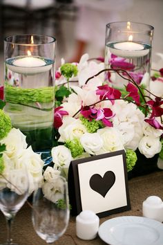 white hydrangea purple orchids wedding