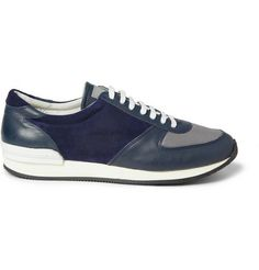 Our Legacy Suede, Leather and Mesh Sneakers   MR PORTER