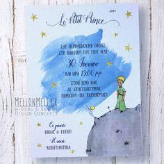 """Προσκλητήριο Βάπτισης """"Le Petit Prince"""""""