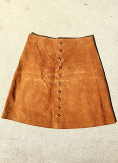 Butterscotch Caramel Suede skirt, $30