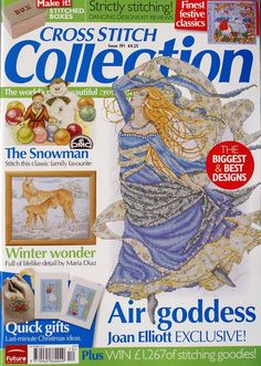 Cross Stitch Collection 191 2010 Air goddess; horse, flowers, birds, Christmas cards, gift bag