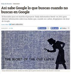 Así sabe Google lo que buscas cuando no buscas en Google / @hojaderouter | #readyfordigitalprivacy