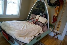 Bed made from an old boat - would be great in a cabin or childs room!