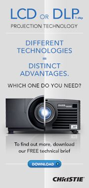 Christie offers the broadest range of LCD, 1-chip and 3-chip DLP® projectors on the market – we have what you need no matter your application or budget.