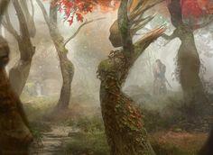 "megarah-moon:  "" ""Magic The Gathering: Dryad Arbor"" by Brad Rigney  """