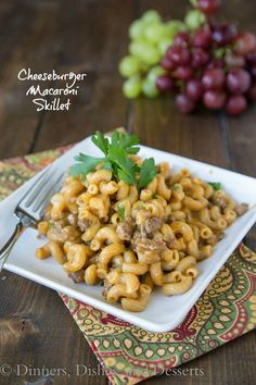 Cheeseburger Macaroni Skillet - 20 minutes, one pan, and dinner is done!
