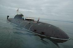 Akula class submarine Samara on parade.