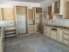 Kitchen Cabinets Unfinished - No Island yet.
