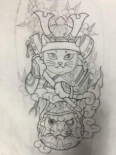Japanese Tiger Tattoo, Japanese Flower Tattoo, Japanese Tattoo Designs, Japanese Sleeve Tattoos, Avatar Tattoo, Tattoo L, Cover Tattoo, Daruma Doll Tattoo, Desenho New School