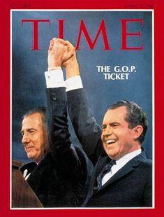 President Richard Nixon and His Vice President Spiro Agnew. Popular Magazine, My Magazine, Magazine Covers, Silent Majority, Yorba Linda, Presidential Libraries, Time News, Old Magazines, Us Presidents