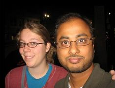 Mainak Sarkar, 38, who shot and killed UCLA professor William Klug, 39, on campus Wednesday, murdered Ashley Hasti (pictured together on his Facebook page) at her home in Minnesota before driving to find his former instructor. The pair got married in 2011