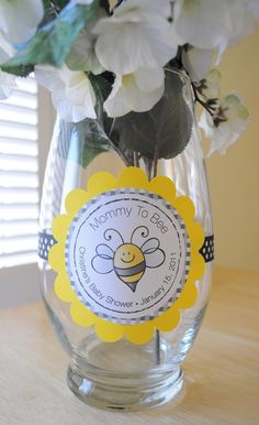 3 Baby Shower Centerpiece Decorations - Bumble Bee Theme - Mommy To Bee