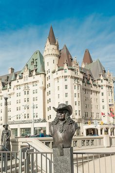 Chateau Laurier, Ottawa, Ontario, Canada | via Flickr. 5th floor corner was my room !!!! above statue