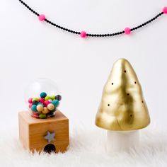 Sunday in color: News from Egmont Toys! Gold toadstool lamp.