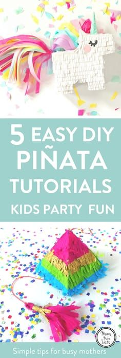 DIY Piñata tutorials - 5 brilliant tutorials on how to make a homemade piñata.These ideas are all perfect for kids birthday party games or for keeping kids entertained at Christmas parties. Homemade Birthday Decorations, Diy Party Decorations, Christmas Games For Kids, Christmas Parties, Homemade Pinata, Birthday Party Games For Kids, Birthday Ideas, 5th Birthday, Birthday Parties