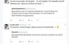 """Lucas Lima ironiza palmeirenses no Twitter: """"Valeu por lembrar do título""""  http://santosjogafutebolarte.comunidades.net/lojas"""