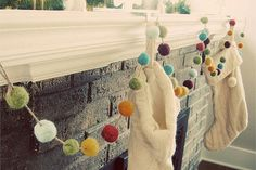 7 Creative DIY Christmas Garlands. I love the felted garland pictured.