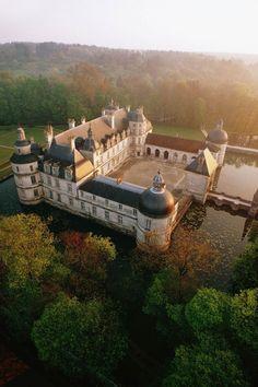 """livesunique: """" Le château de Tanlay, Tanlay, Yonne, Bourgogne Franche-Comté, France """""""