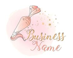 * Premade Logos * Custom logos * Business cards * by HappyLogo Baking Logo Design, Cake Logo Design, Custom Logo Design, Custom Logos, Bakery Business Cards, Business Logo, Business Card Design, Cupcake Logo, Piping Bag