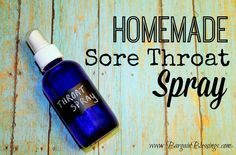 This homemade sore throat is super easy to make with only two ingredients and very effective! #DIY #homemade #essentialoils