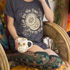 Fold Owl Mug and Natural Life Tee