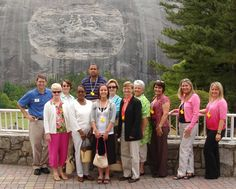 Some of @Explore Georgia's Visitor Information Center specialists touring @Stone Mountain Park with DeKalb CVB